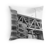 Urban Living in San Francisco - Living Under the Bay Bridge Throw Pillow