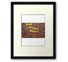 Brick. Framed Print