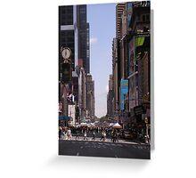 NYC 7th Avenue. Greeting Card