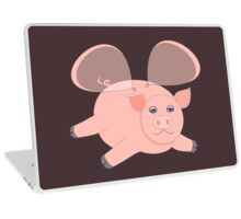 EVENING OF THE GLASSWINGED PIG Laptop Skin
