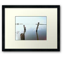 tiki pilings Framed Print
