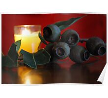 Red Warmth and Gumnut Reflections Poster