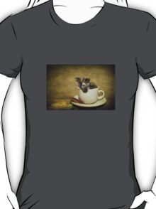 Having a 'Cat'puccino on the way to 'Cat'mando  T-Shirt