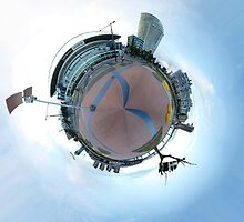 Docklands Tiny Planet by James Troi