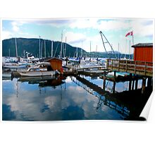 Summer Evening on Cowichan Bay Poster