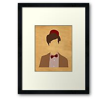 11th Doctor minimalist art Matt Smith Framed Print