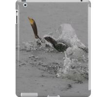 Cormorants Swimming After Diving Off Dock iPad Case/Skin