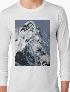 Sunny Snowy Mountain With Blue Sky Long Sleeve T-Shirt