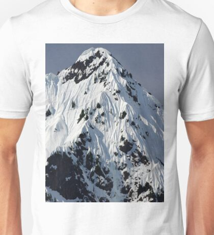 Sunny Snowy Mountain With Blue Sky Unisex T-Shirt