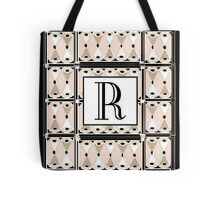 1920s Pink Champagne Gatsby Monogram letter R Tote Bag