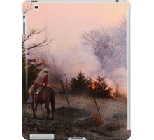 Rancher Watching a Controlled Prairie Fire iPad Case/Skin