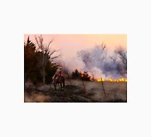 Rancher Watching a Controlled Prairie Fire Unisex T-Shirt