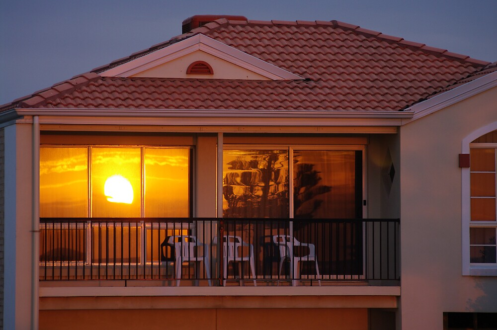 sunset through the window by janfoster