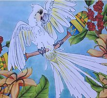 Dancing Cockatoo  by Lenna Soleil Gonsalves