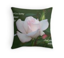 Dinner Party Invite Throw Pillow