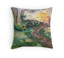 Misty Garden - Leura Throw Pillow