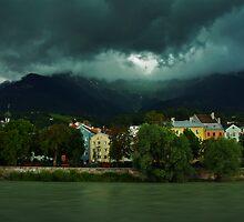 Storm clouds over Innsbruck by Béla Török