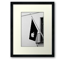 Apple Flag Flying in the Wind Framed Print