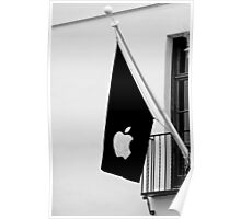 Apple Flag Flying in the Wind Poster