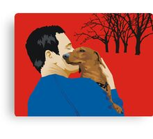 the dachshund whisperer Canvas Print