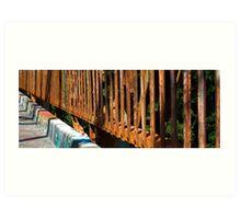 Rusty Railings Art Print