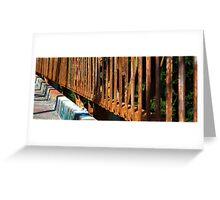 Rusty Railings Greeting Card