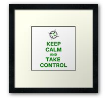 Keep Calm Take Control - Survival Gear Authority Framed Print