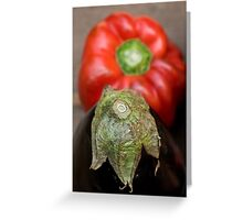 Eggplant and pepper Greeting Card
