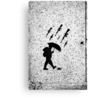 It's Raining Guns, Hallelujah! Canvas Print