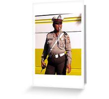 Policeman, Ubud, Bali Greeting Card