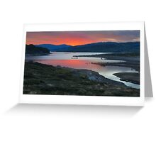 Rocky Valley Sunset Greeting Card
