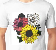 Sunflower Center Unisex T-Shirt