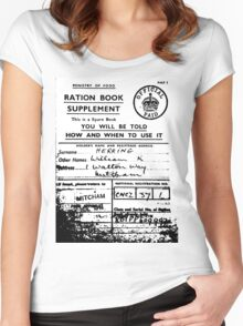 ww1 ration book Women's Fitted Scoop T-Shirt