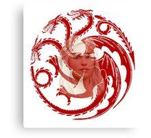 Daenerys Targaryen, Mother of Dragons, Sigil Canvas Print