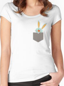 POCKET PALS :: bunny rabbit 2 Women's Fitted Scoop T-Shirt