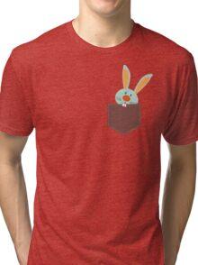 POCKET PALS :: bunny rabbit 2 Tri-blend T-Shirt