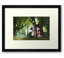 Flower Crowns and Hippogriffs Framed Print
