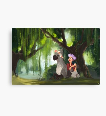 Flower Crowns and Hippogriffs Canvas Print
