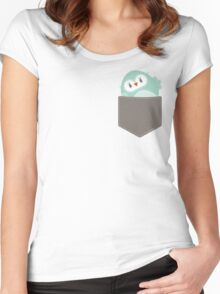 POCKET PALS :: owl - foam Women's Fitted Scoop T-Shirt
