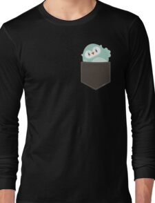 POCKET PALS :: owl - foam Long Sleeve T-Shirt