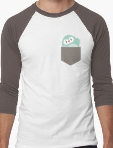 POCKET PALS :: owl - foam Men's Baseball ¾ T-Shirt