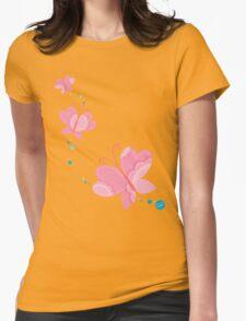 FLUTTERBY BUTTERFLY :: pink + aqua + foam T-Shirt