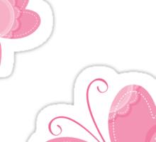 FLUTTERBY BUTTERFLY :: pink + aqua + foam Sticker