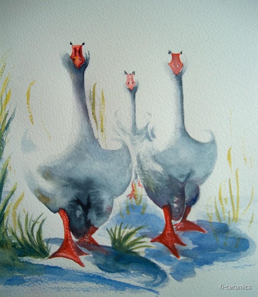 'Three fat ducks' by fi-ceramics