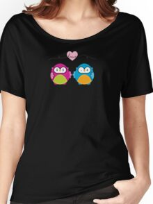 OWLS IN LOVE :: bright Women's Relaxed Fit T-Shirt