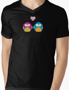 OWLS IN LOVE :: bright Mens V-Neck T-Shirt