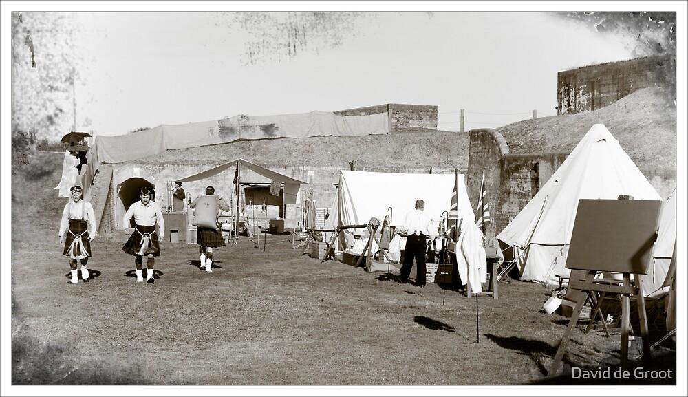 Colonial Scots Encampment by David de Groot