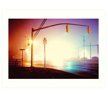 Foggy Night Art Print