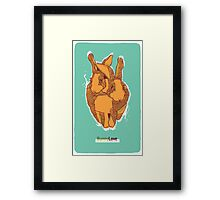 Bunny Love - Orange Version  Framed Print