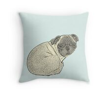 Sleeping Pug Throw Pillow